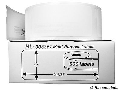 1 Roll of 500 Multipurpose Labels in Cartons for DYMO® LabelWriters® 30336