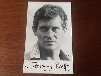 JEREMY BRETT ORIGINAL SIGNED Very Scarce PHOTOGRAPH