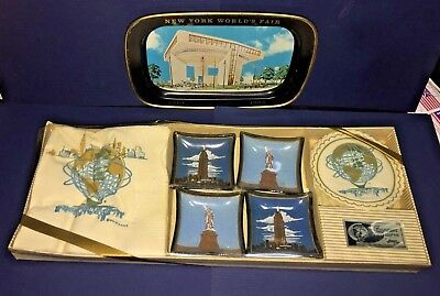 1964 1965 New York World's Fair Souvenirs New In Sealed Package Gift Set & Tray