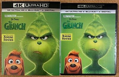 Dr. Seuss The Grinch 2018 4K Ultra Hd Blu Ray 2 Disc Set + Slipcover Sleeve Buy