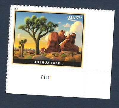 5347 Joshua Tree Priority Mail With Plate Number Single Mint/nh