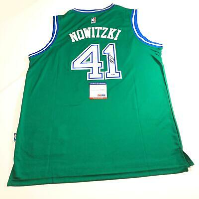 b1df5690c Dirk Nowitzki signed jersey PSA DNA Dallas Mavericks Autographed NBA Mavs  Green