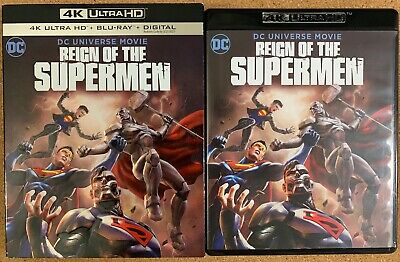 Dc Reign Of The Supermen 4K Ultra Hd Blu Ray 2 Disc Set + Slipcover Sleeve Buy