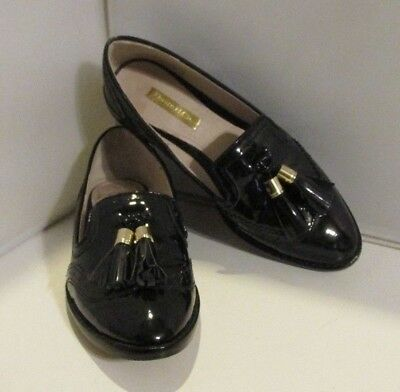 38f3a99449 Louise et Cie Black Lo Joey Black Patent Leather Tassel Loafers Sz 5 1 2M