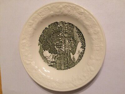 1940s Apple Picking Country Farmhouse Kitchen Taylor Smith /& Taylor Pastoral Plate Green Transfer Plates Green and white Plates Farmhouse