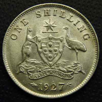 1927 Shilling - UNC - Struck From Rusty Dies