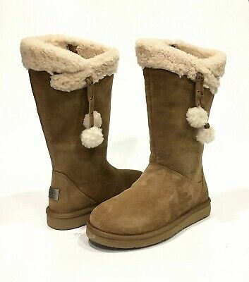 e799e40901f UGG PLUMDALE CUFF Tall Boots Chestnut Brown Suede -Us Size 8 -New