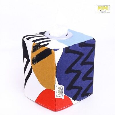 Modern Handmade Tissue Box Cover Kids Nursery Bathroom GEO POP COLOUR #3