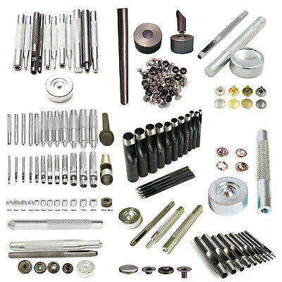 Press Studs Eyelets Snap Poppers Fixing Hand Tool Kit for Crafts Clothing Décor