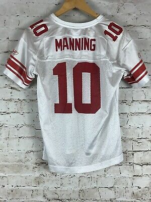 f64f9bb9f Women s New York Giants Eli Manning Jersey Size Large White NFL Football  Reebok