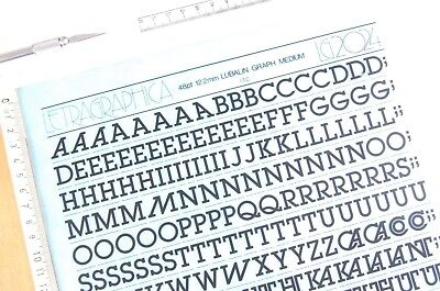 LETRASET Rub On Letter Transfers 60pt TABASCO MEDIUM #2629 12.2mm