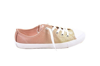 79501a2b7e7 Converse Women s CTAS Dainty OX 559870 Sneakers Gold Pink UK 6 RRP £67 BCF87