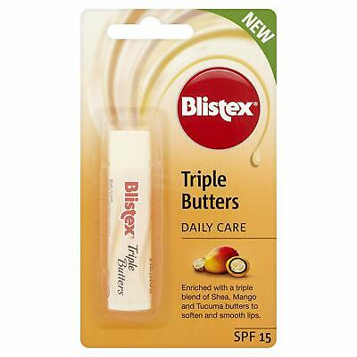 Blistex Triple Butters SPF15 Vitamin E Shea Mango Tucuma BUY 1 GET 1 20% OFF