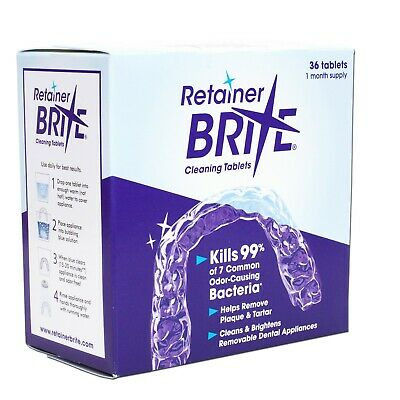 Retainer Brite Cleaning Tablets ~ Removeable Dental Appliances Cleaner