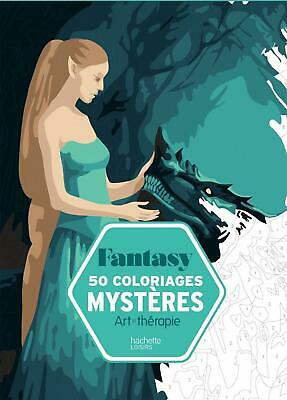 Fantasy Adult Colouring Book French By Numbers Creative Art Therapy Relax Calm