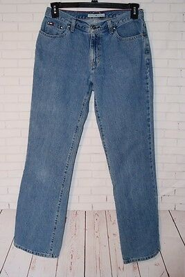 Details about Vintage Tommy Hilfiger Womens 10 Jeans Spellout High Waist Stone Wash Tapered