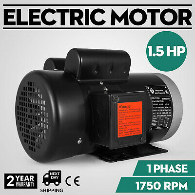 VEVOR  1.5HP, 1 Phase, 1750 RPM, 141556C ,TEFC Electric Motor