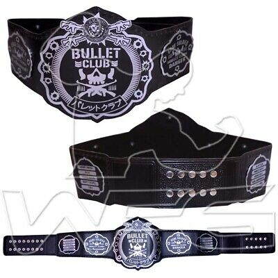 WWE World Wrestling Champion Title Replica Belt Bullet Club Black Silver 4mm WWF