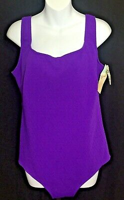bcc5eeb73351c Le Cove Swimwear Women s Plus Size 22W One Piece Purple Swimsuit NWT