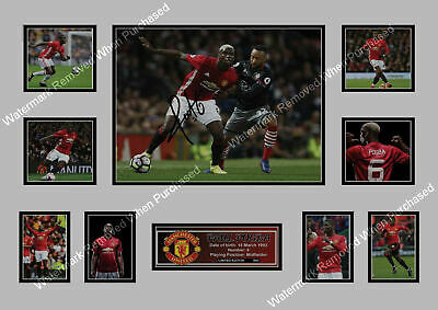 Paul Pogba Manchester United Fc Signed A4 Autographed Print Memorabilia