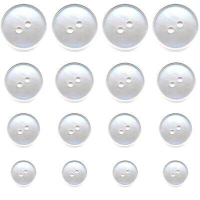 5 x 23mm Clear Transparent 4 Hole Polyester Buttons Sewing Knitting Crafts AA35