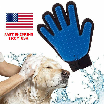 2x Deshedding Pet Dog Cat Grooming True Glove Hair Removal Brush Touch Massage