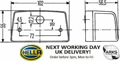 HELLA Licence Plate Light R10W - 2KA998523-001 (Next Working Day to UK)