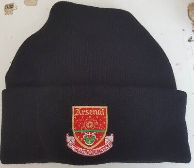 Arsenal retro style wooly HAT Beanie hat The Gunners 6ba3d6981d54