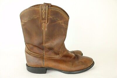 651b2058376 ARIAT MENS 10D Heritage Roper Distressed Brown Leather Riding Boots