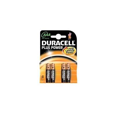81275396 Duracell Plus Power Battery Alkaline AAA Size 1.5V [Pack of 4]