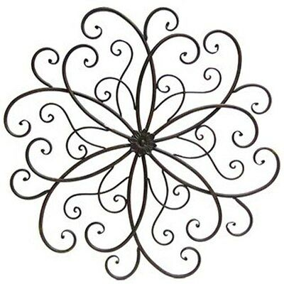 large unique fleur de lis round metal wall rustic scroll decor Cute Hello Kitty large rusty round scroll metal wall decor antique vintage look free shipping