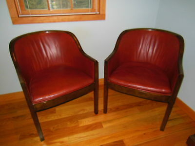 Vintage Mid~Century Pair of BAKER CLUB CHAIRS