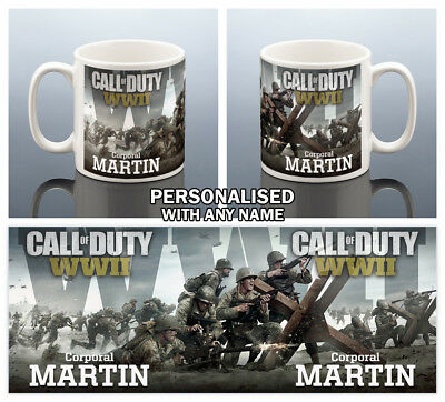 CALL OF DUTY WWII MUG Birthday Gift Him Men Gaming Cup Husband Gamer Dad Brother