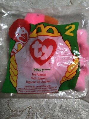 1996 McDonalds Happy Meal Toy - Ty Beanie Babies Pinky the Flamingo -  2 - 496e2a192e6c