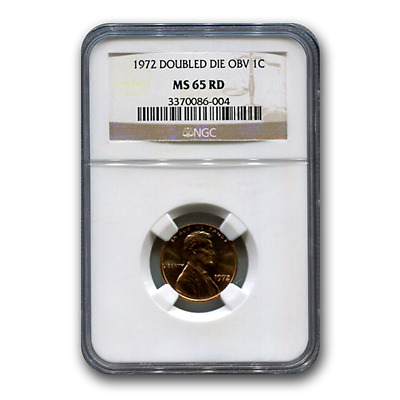 1972 Doubled Die Obverse Lincoln Cent MS-65 NGC (Red) - SKU#173558