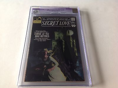 Sinister House Of Secret Love 1 Cgc 8.0 Wes Craven Grey Tone Cvr Gothic Dc Comic