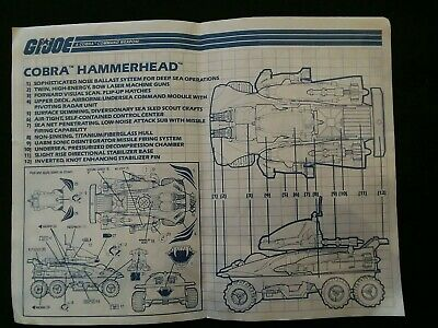 1990 GI Joe ARAH Cobra Hammerhead Yellow Cockpit Canopy Part Unbroken