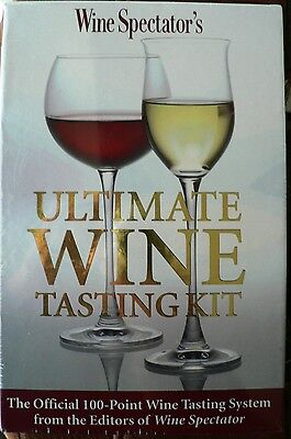 Ultimate Wine Tasting System Kit by Wine Spectator Magazine Books New Sealed HTF