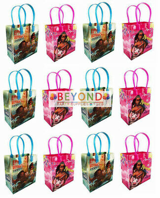 12PC Disney Moana w Maui Party Favors Goody Loot Candy Bags Assorted