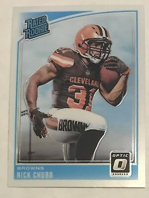 2018 Donruss Optic Football NICK CHUBB RC #158 RATED ROOKIE CLEVELAND BROWNS