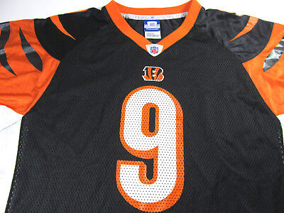CINCINNATI BENGALS CARSON PALMER  9 REEBOK NFL Youth XL Black Orange Jersey 54621a8ce