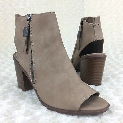 b13022fdec36 Circus Sam Edelman Size 10 M Kammi Oatmeal Suede Open Toe Stacked Heel Shoes  New