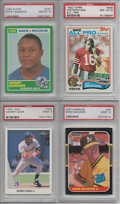 1989 Score Barry Sanders 257 Rc Rookie Football Card