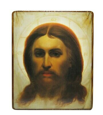 Orthodox Russian icon Jesus Christ, Savior Not Made by Hands wooden icon