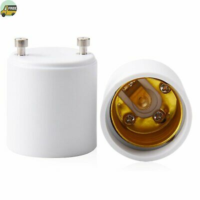 JACKYLED GU24 to E26 E27 Adapter 2-pack Heat Resistant Up to 200℃ Fire Resistant