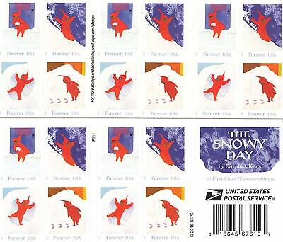 USPS The Snowy Day - Forever Stamps Book of 20 - New 2017 Release