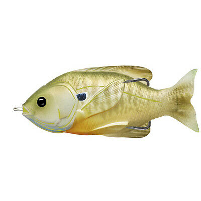 "LiveTarget Lures Sunfish Hollow Body Freshwater, 3 1/2"",#4/0 Hook.Topwater Depth"