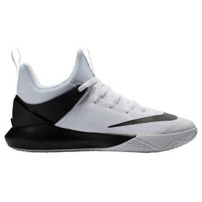 release date 68fac 3d522 Mens Nike Zoom Shift TB Basketball Shoes Size 4 White Black 897811 100