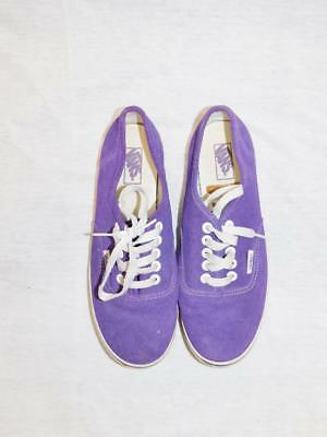ceff5a2dd8 VANS 7 Womens Purple White Low Top Sneakers Canvas Shoes Flats Mens 5.5