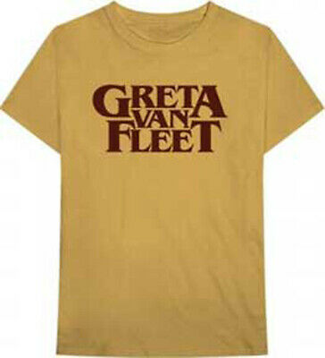 GRETA VAN FLEET Old Gold Logo T SHIRT S-M-L-XL-2XL NEW Official Bravado merch